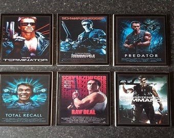 Arnold Schwarzenegger Movie Poster Ceramic Drinks Coasters