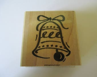 "Stampin-Up Rubber Stamp  "" Wedding Bell""  used good condition"