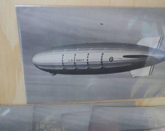 Postcard Blimp Zeppelin new old stock collection vintage lot