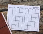 Traveler's Notebook POCKET Size Month on Two Pages SUNDAY-SATURDAY {July 2018-June 2019} #600-02