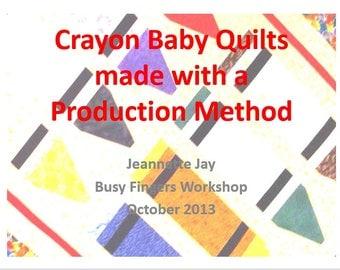Crayon Quilt PDF instructions