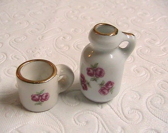 Reutter Miniatures, Pitcher and Cup Reutter Miniatures, Reutter Germany Miniatures