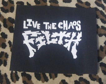 Filth punk crust patch Live The Chaos