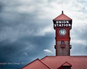 Union Station, Train--Fine Art Photography Portland Oregon