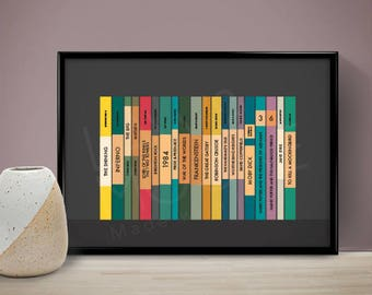 Classic Books Personalised Poster, Wedding Gift, Birthday Gift, Present, Gift