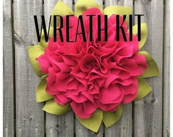 Marigold Wreath Kit, Marigold Wreath Tutorial, Wreath Kit and Tutorial, DIY. Wreath Tutorial, Summer Wreath, DIY Wreath, Front Door Wreath