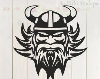 Viking Head SVG, PNG, DXF files, instant download