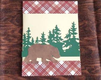 Plaid Bear Card