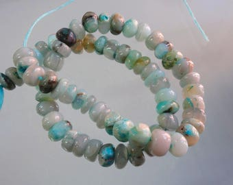 14-inch Natural Peruvian Opal smooth plain beads size 8-8.5mm GW2913