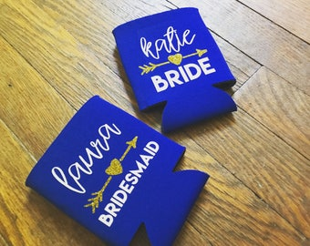 Personalized Can Cooler - Wedding Favors - Bachelorette Gifts - Bachelorette Party Favors - Bachelorette Can Cooler - Custom Can Cooler