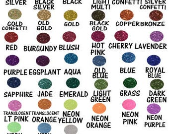 Vinyl Color Choices for t-shirts