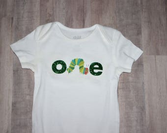 Very Hungry Caterpillar First Birthday Onesie or Shirt