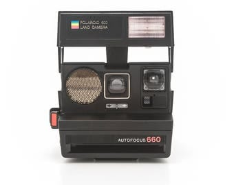 Polaroid 600 Land Camera AUTOFOCUS 660 - film Tested and Working - Refurbished by Impossible Project- Vintage 80s Instant Camera