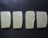 Healite Flat Touchstones ~ Matching Set of 4 pieces ~ Clears Pain ~ Tumbled Soft ~ Reiki Charged ~ 5H7