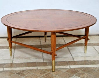 Vintage Mid Century Danish Modern Round Coffee Table Lane Alta Vista No. 651090