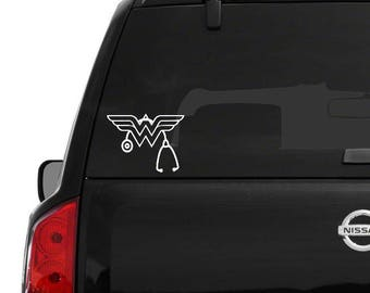 Wonder Woman Stethoscope Decal - perfect for the medical professional!