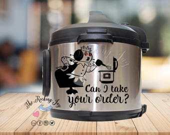 Instant pot Decal, Rosie the robot, Can I take your order,  IP decal, crock pot decal, pressure cooker
