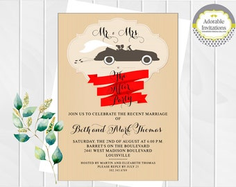 Wedding Shower Invitation  | Wedding Reception Invitation | After the Wedding Invitation | Couples Shower Invitation | Bride and Groom