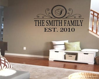 EVERYTHING IS 20% OFF Family Name Est Wall Decal