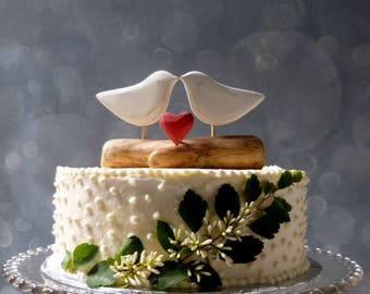Wood Bridal Topper,  Heart Topper, Wooden Cake Topper, Heart Wedding Cake Topper, White Custom Topper