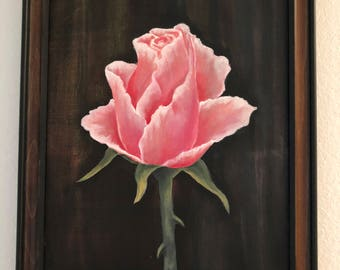 "Original Acrylic Painting ""A Rose"" by Cecily Emond"