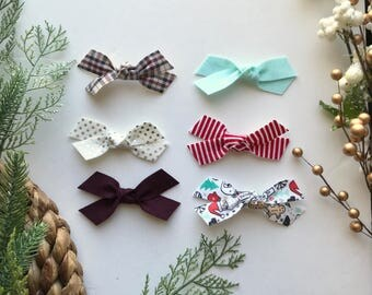 PICK ANY TWO set || pigtail bows - baby bows - girl hair clip - bows with clip -bow set - little girl headbands - felt bow - bow ali