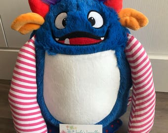 New!  Monster embroidered stuffed animal