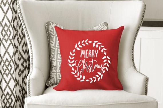 Christmas Pillow Covers 18x18: Christmas pillow throw pillow cover modern farmhouse,
