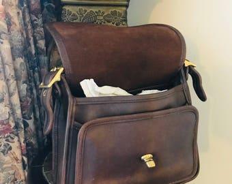 Vintage Coach Legacy Rambler Handbag // Coach Crossbody Bag // Mahogany // Made In USA # 9061