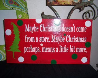 Maybe Christmas doesnt come from a store