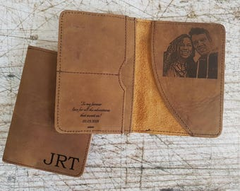 personalized leather passport holder, genuine leather passport holder, engraved passport cover, travel wallet, travel gifts, passport wallet