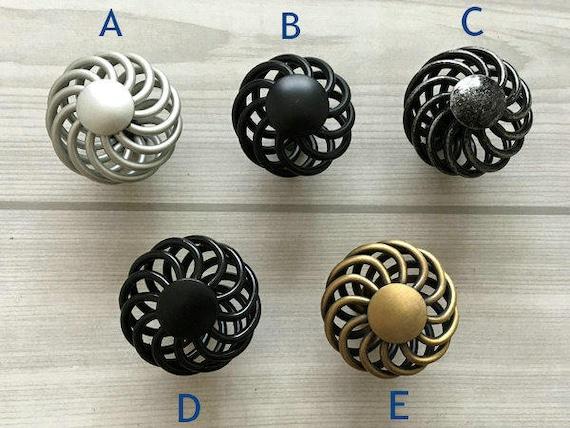 bouton commode boutons tire poign es en fer forg aspect. Black Bedroom Furniture Sets. Home Design Ideas