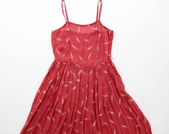Vintage Dress // Max Mara Spaghetti Strap Pleat Sundress