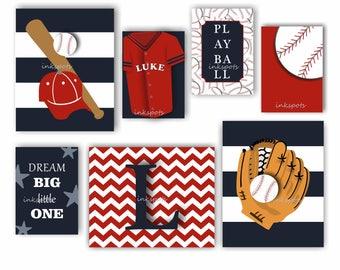 Baseball Art. Baseball Nursery. Baseball Decor. Baseball Wall Art. Baseball Jersey Art. Sports Nursery Art. Dream Big. Choose Colors BB2204