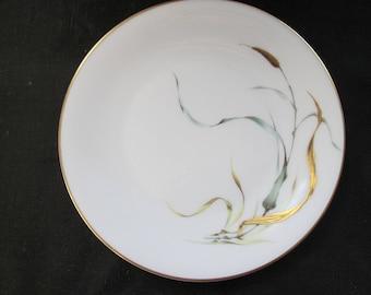 Mid Century: Elegant Cattails  -  Eleven B&B Plates Heinrich Bavarian China (for J L. Hudson's - Detroit)