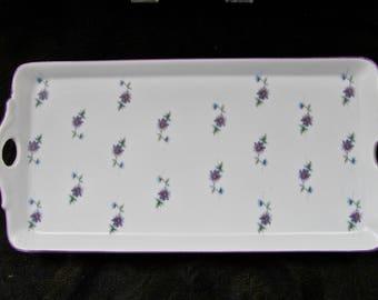 "Hummelwerk Victorian Garden ""Violets"" Dresser Tray"