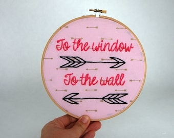 To the window to the wall - Get Low -  Embroidered Hoop Art - Lil Jon