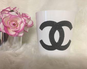 "Chanel inspired Storage Bin 6"""