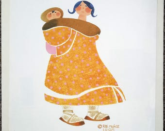 "Alaskan Artist Rie Munoz ""Mother and Child"" Limited Edition Print"