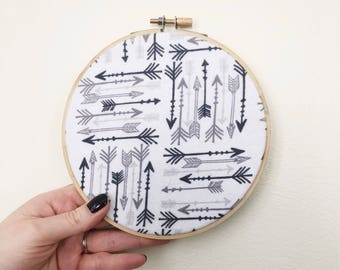 Embroidery Hoop Art/Arrow Wall Art/Nursery Decor/Baby Shower Gift/Baby Room Art/Woodland Decor/Nursery Wall Art/Arrow Embroidery Hoop Art