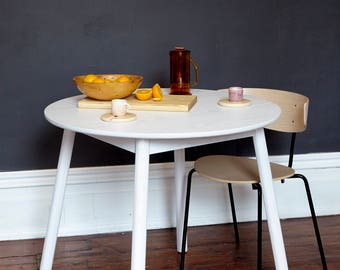 Solid ash table lacquered white dining table breakfast table - Washington Circle by bff