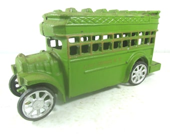 Cast Iron Bus, Die Cast Toy, Toy Bus, Double Decker Bus, Lake George New York