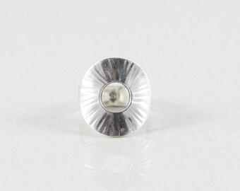Sterling Silver Modernist Ring size 8 1/4