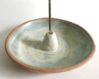 Ocean Blue Ceramic Incense Holder