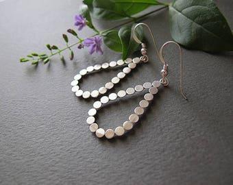 Silver earrings,Jewelry, Israeli jewelry,Silver drop earrings, gifts from israel