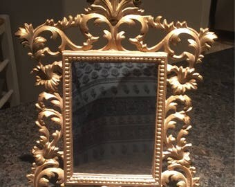 Fabulous Gold Ornate Mirror or Picture Frame