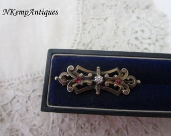 Antique french brooch 1900 real silver