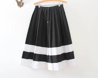 Striped Skirt, Black Skirt, Black & White Skirt, Black Midi Skirt, Midi Skirt, Pleated Skirt, Black Pleated Skirt, Striped Midi Skirt, Black