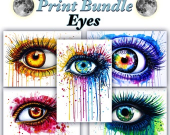 Big Print Bundle -Get these 5 Eye prints and save money-