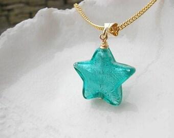 Murano Glass Star Necklace